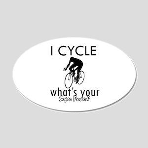 I Cycle 22x14 Oval Wall Peel