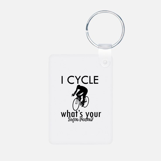 I Cycle Keychains