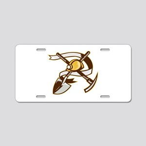 coal miner hardhat Aluminum License Plate