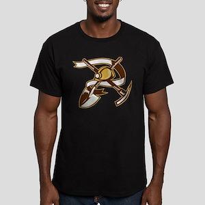 coal miner hardhat Men's Fitted T-Shirt (dark)