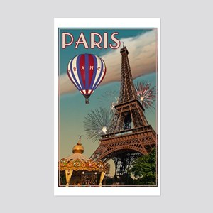 Vintage Eiffel Tower Sticker (Rectangle)