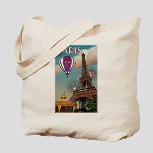 Vintage Eiffel Tower Tote Bag