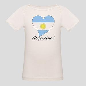Heart Argentina (World) Organic Baby T-Shirt