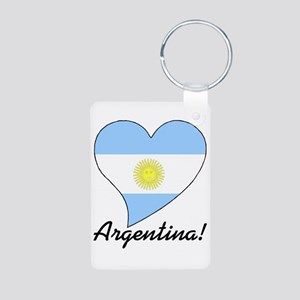 Heart Argentina (World) Aluminum Photo Keychain