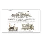 H K Porter & Company, 1890 Rectangle Sticker