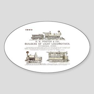 H K Porter & Company, 1890 Oval Sticker