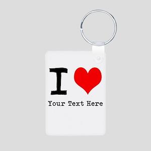 I Heart (personalized) Aluminum Photo Keychain