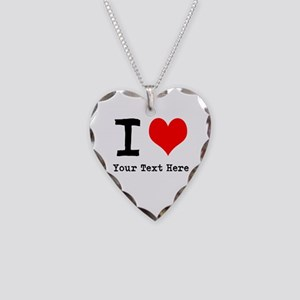 I Heart (personalized) Necklace Heart Charm