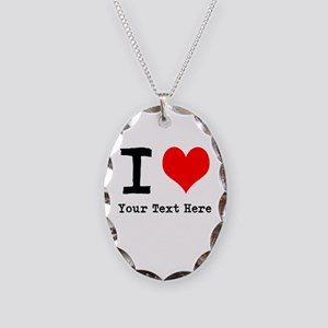 I Heart (personalized) Necklace Oval Charm