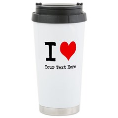 I Heart (personalized) Stainless Steel Travel Mug