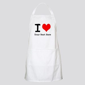 I Heart (personalized) Apron