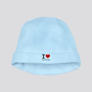 I Heart (personalized) baby hat