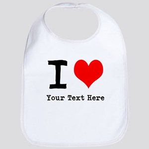 I Heart (personalized) Bib