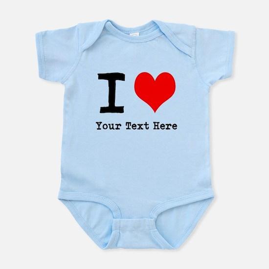 I Heart (personalized) Infant Bodysuit