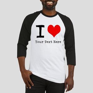 I Heart (personalized) Baseball Jersey