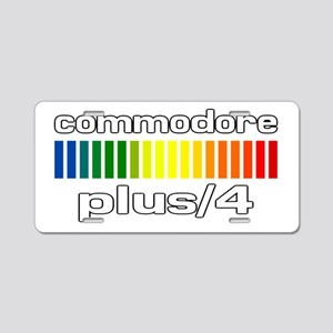 Commodore Plus/4 Aluminum License Plate