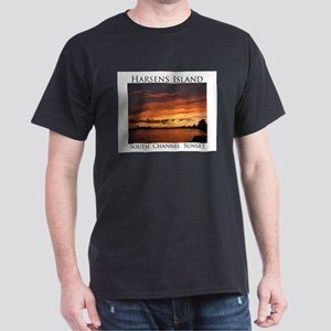Harsens Island Sunset 2 Dark T-Shirt