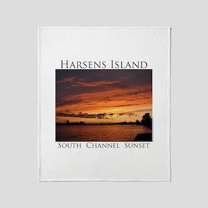 Harsens Island Sunset 2 Throw Blanket