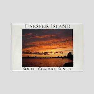 Harsens Island Sunset 2 Rectangle Magnet
