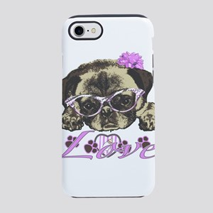 Pug in pink iPhone 7 Tough Case