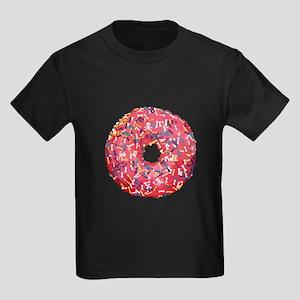 Skull &Bone Sprinkle Donut Kids Dark T-Shirt