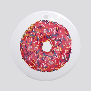 Skull &Bone Sprinkle Donut Ornament (Round)