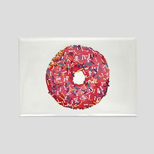 Skull &Bone Sprinkle Donut Rectangle Magnet