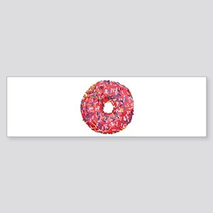 Skull &Bone Sprinkle Donut Sticker (Bumper)