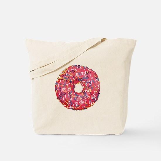 Skull &Bone Sprinkle Donut Tote Bag