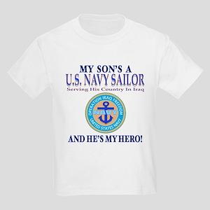 Navy Son My Hero Kids T-Shirt
