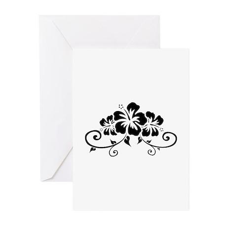 Hawaiian flowers Greeting Cards (Pk of 20)