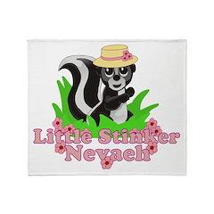 Little Stinker Nevaeh Throw Blanket