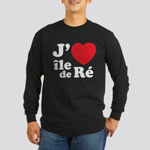 J'adore Ile de Ré Long Sleeve Dark T-Shirt
