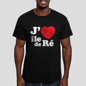 J'adore Ile de Ré Men's Fitted T-Shirt (dark)