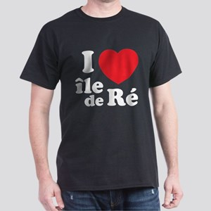 I Love Ile de Ré Dark T-Shirt