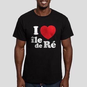 I Love Ile de Ré Men's Fitted T-Shirt (dark)