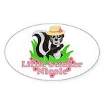 Little Stinker Nicole Sticker (Oval 10 pk)
