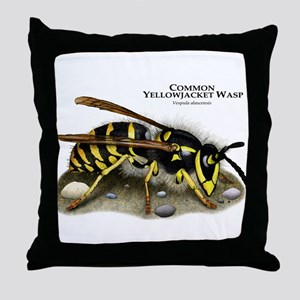 Common Yellowjacket Wasp Throw Pillow