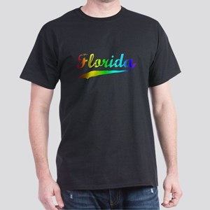 Florida Rainbow Vintage Dark T-Shirt