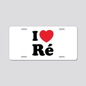 I Love Ile de Ré Aluminum License Plate