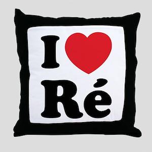 I Love Ile de Ré Throw Pillow
