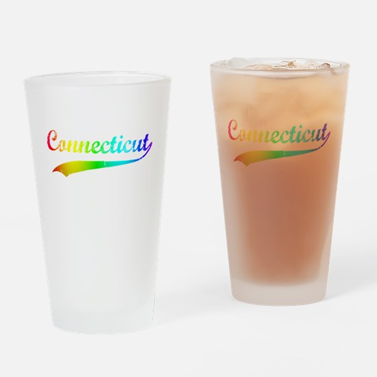 Connecticut Rainbow Vintage Drinking Glass