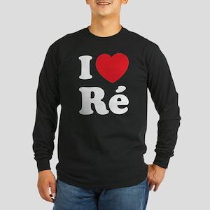 I Love Ile de Ré Long Sleeve Dark T-Shirt