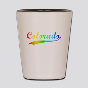 Colorado Rainbow Vintage Shot Glass