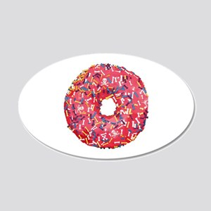 Skull &Bone Sprinkle Donut 20x12 Oval Wall Decal