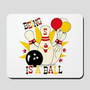 Cute Bowling Pin 5th Birthday Mousepad