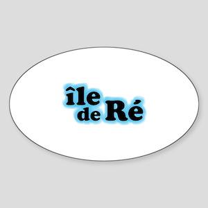 Ile de Ré Sticker (Oval)