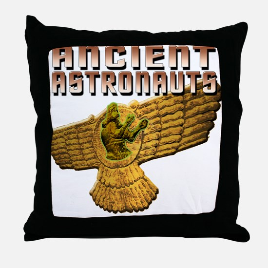 Ancient Astro Wings Throw Pillow