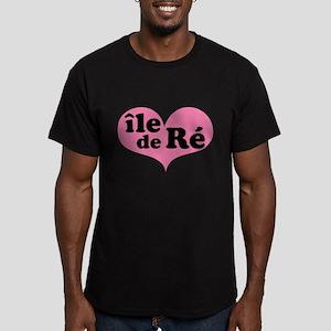 Ile de Ré Men's Fitted T-Shirt (dark)