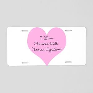 I Love Someone with Noonan Sy Aluminum License Pla